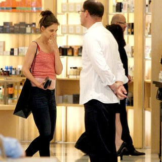 Katie Holmes in Katie Holmes Seen Shopping in The Shoe Department of Barneys of New York