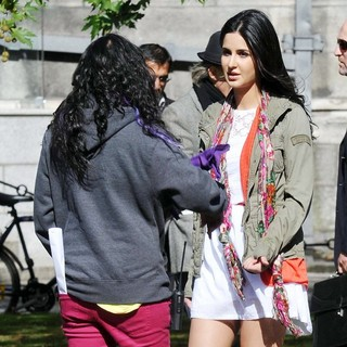 Katrina Kaif in Film Ek Tha Tiger Being Shot on Location