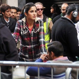 Katrina Kaif in On The Set of Ek Tha Tiger