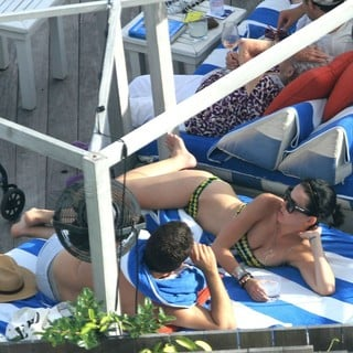 Katy Perry Enjoys A Break with Friends and Family