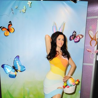 Wax Figure of Katy Perry Gets Dressed as Easter Bunny