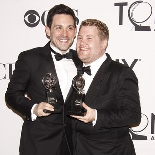 Steve Kazee, James Corden in The 66th Annual Tony Awards - Press Room