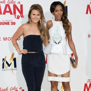 Ashlee Keating, Michelle Williams (II) in Film Premiere of Think Like a Man Too