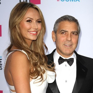 Stacy Keibler, George Clooney in 17th Annual Critic's Choice Movie Awards - Arrivals