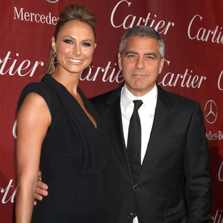 Stacy Keibler, George Clooney in The 23rd Annual Palm Springs International Film Festival Awards Gala - Arrivals
