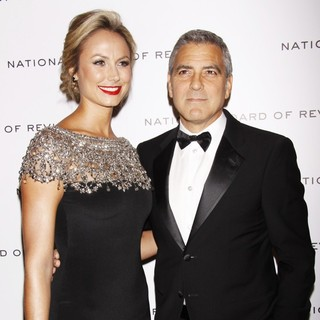 Stacy Keibler, George Clooney in The National Board of Review Awards Gala - Inside Arrivals