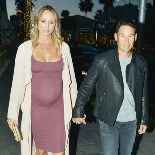 Stacy Keibler Looking Very Pregnant While Out on A Dinner Date
