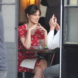 Keira Knightley in Can a Song Save Your Life? Filming on Location