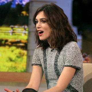 Keira Knightley Appears on ABC's Good Morning America
