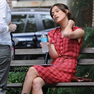 Keira Knightley in On The Set of Movie Can a Song Save Your Life?