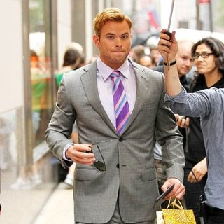 Kellan Lutz in On The Movie Set of Syrup