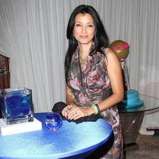 Kelly Hu in Ciroc Cigar Lounge at The Scarface Blu-Ray DVD Release Party