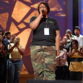 Kelly Price in BET Celebration of Gospel Rehearsals