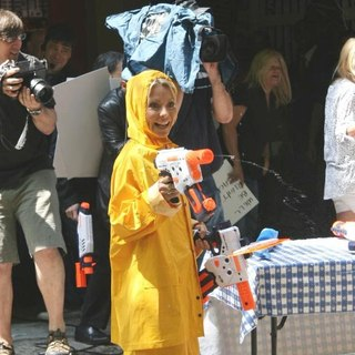 Kelly Ripa in Taping Water Toys Segment Outside ABC Studios Live with Regis and Kelly Show