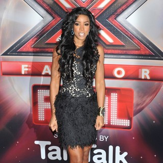 Kelly Rowland in The X Factor Final Photocall with The Judges