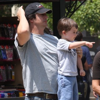 Ken Marino Out Shopping in Hollywood with His Family