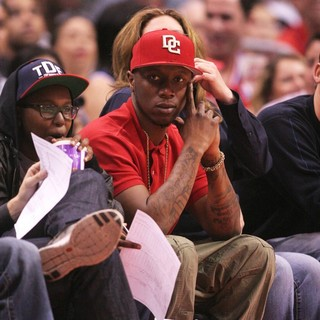 Kendrick Lamar in Celebrities Watch The Los Angeles Clippers vs. Detroit Pistons