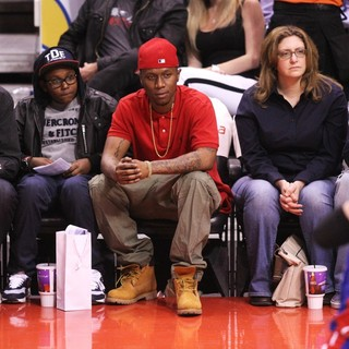 Celebrities Watch The Los Angeles Clippers vs. Detroit Pistons
