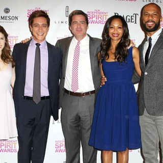 Anna Kendrick, Sean McManus, Josh Welsh, Zoe Saldana, Common in 2013 Independent Spirit Awards Nominations Ceremony