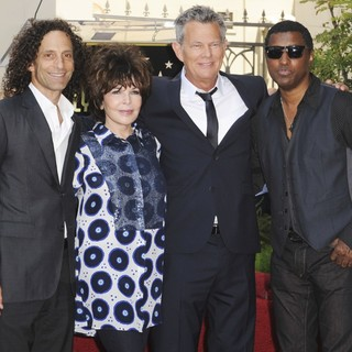 Kenny G, Carole Bayer Sager, David Foster, Babyface in David Foster Honored with Star on The Hollywood Walk of Fame