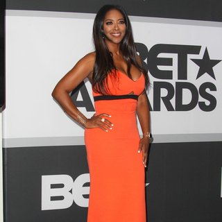 Kenya Moore in The 2014 BET Awards - Press Room