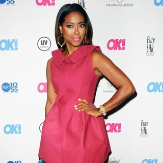 Kenya Moore in OK! TV Launch Party - Red Carpet Arrivals
