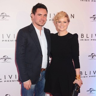 David Keoghan, Cecelia Ahern in The Irish Premiere of Oblivion - Inside Arrivals