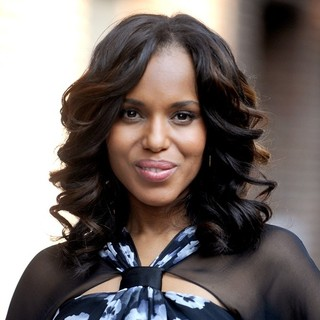 Kerry Washington in Kerry Washington Attends The Late Show with David Letterman