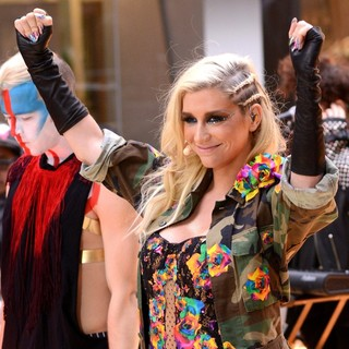 Ke$ha in Ke$ha Performing Live on NBC's Toyota Thanksgiving Concert Series on The Today Show