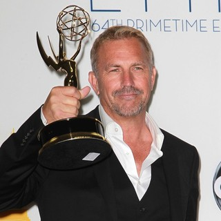 Kevin Costner in 64th Annual Primetime Emmy Awards - Press Room