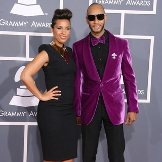 Alicia Keys, Swizz Beatz in 54th Annual GRAMMY Awards - Arrivals