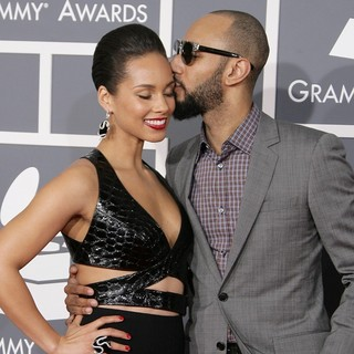 Alicia Keys, Swizz Beatz in 55th Annual GRAMMY Awards - Arrivals
