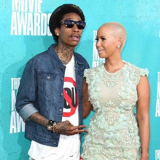 Wiz Khalifa, Amber Rose in 2012 MTV Movie Awards - Arrivals