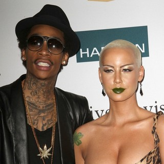 Wiz Khalifa, Amber Rose in Clive Davis And The Recording Academy's 2012 Pre-GRAMMY Gala