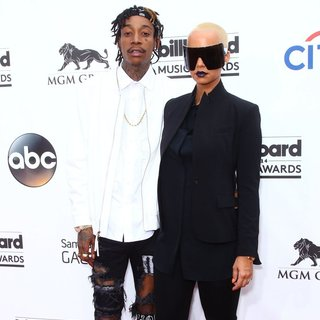 Wiz Khalifa, Amber Rose in 2014 Billboard Music Awards - Red Carpet