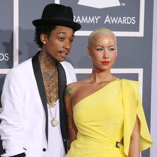 Wiz Khalifa, Amber Rose in 54th Annual GRAMMY Awards - Arrivals