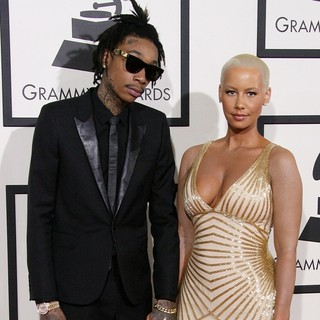 Wiz Khalifa, Amber Rose in The 56th Annual GRAMMY Awards - Arrivals