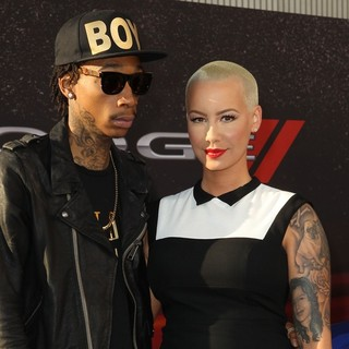 Wiz Khalifa, Amber Rose in Los Angeles Premiere of Fast and Furious 6