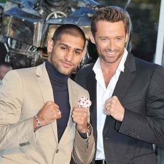 Amir Khan, Hugh Jackman in Real Steel - UK Film Premiere - Arrivals