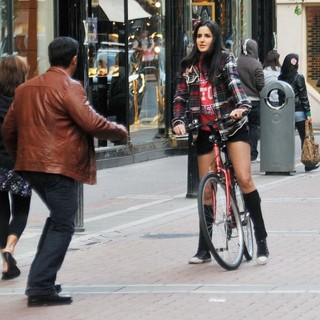 Salman Khan, Katrina Kaif in On The Set of Ek Tha Tiger