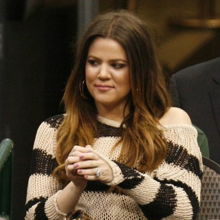 Khloe Kardashian in The NBA Basketball Game Between The Dallas Mavericks and The New York Knicks
