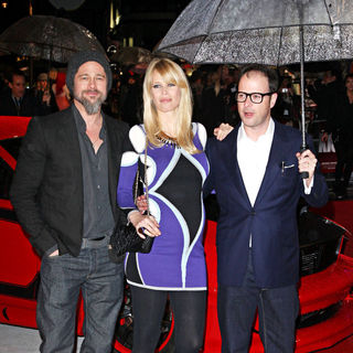 Brad Pitt, Claudia Schiffer, Matthew Vaughn in 'Kick-Ass' UK Film Premiere - Arrivals