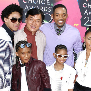 Jackie Chan, Will Smith, Jada Pinkett-Smith, Willow Smith, Jaden Smith in Nickelodeon's 23rd Annual Kids' Choice Awards - Arrivals