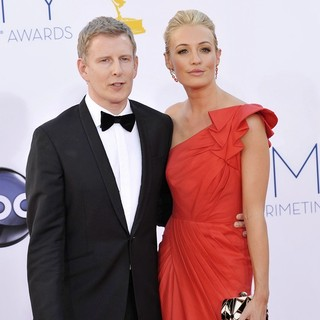 Patrick Kielty, Cat Deeley in 64th Annual Primetime Emmy Awards - Arrivals
