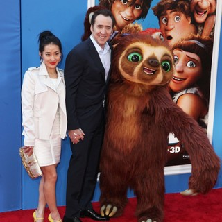 Alice Kim, Nicolas Cage in The Croods Premiere - Arrivals