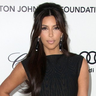 Kim Kardashian in The 20th Annual Elton John AIDS Foundation's Oscar Viewing Party - Arrivals