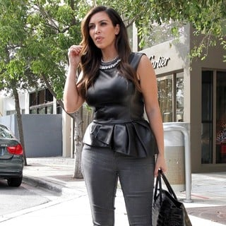 Kim Kardashian in Kim Kardashian Arrives at Christian Louboutin for Some Shopping