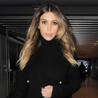 Kim Kardashian in Kim Kardashian Arrives at London's Heathrow Airport