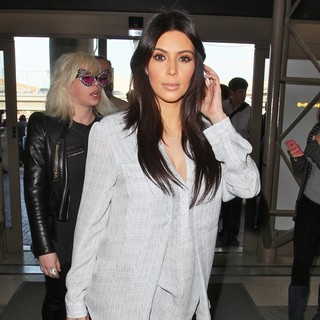 Kim Kardashian in Kim Kardashian Seen Arriving at LAX Airport for A Flight