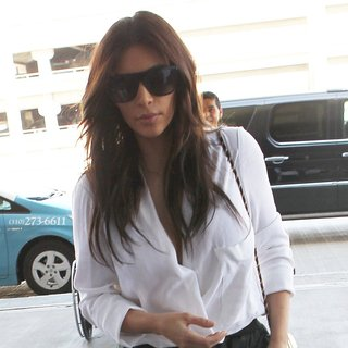 Kim Kardashian in Kim Kardashian Arriving at Los Angeles International Airport